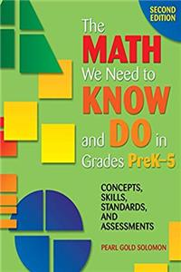 eBook The Math We Need to Know and Do in Grades PreK–5: Concepts, Skills, Standards, and Assessments epub