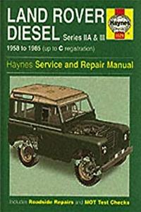 eBook Land Rover Diesel Series Iia and III 1958-85 Service and Repair Manual (Haynes Service and Repair Manuals) epub